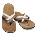 WOMEN'S TRIPLE STRAP BLACK/CORK SANDAL 20-034
