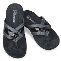 TRIPLE STRAP WOMEN CARBON BLACK 20-266