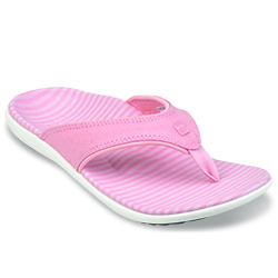 WOMEN'S CANVAS STRIPE SANDAL - BLUSH 39-924 (close out)