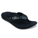WOMEN'S CHEETAH BLACK SANDAL 39-925 (close out)